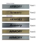 Armory  Door Nameplate | slide in or fixed room sign
